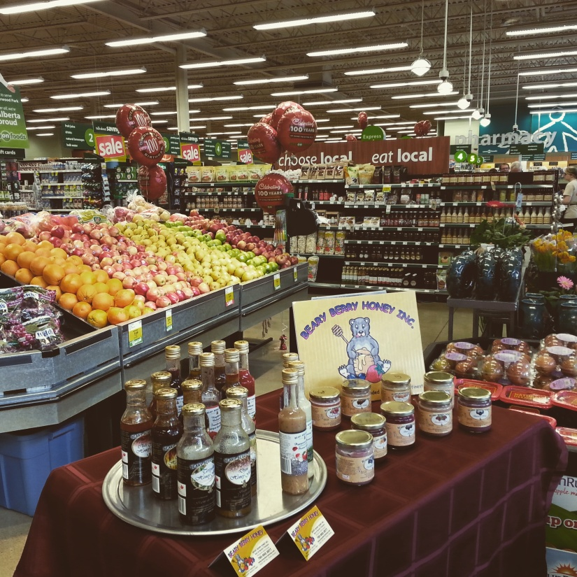 Beary Berry Honey In-Store Demo of our products at Save On Foods