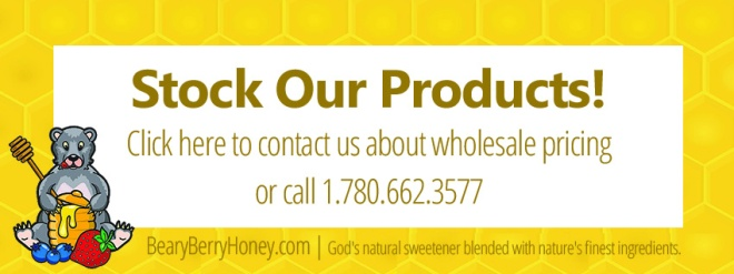 Stock our honey products in your store! Contact us for wholesale pricing.
