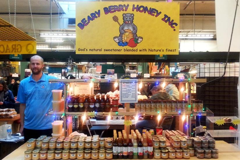 Beary Berry Honey at Old Strathcona Farmers Market in Edmonton