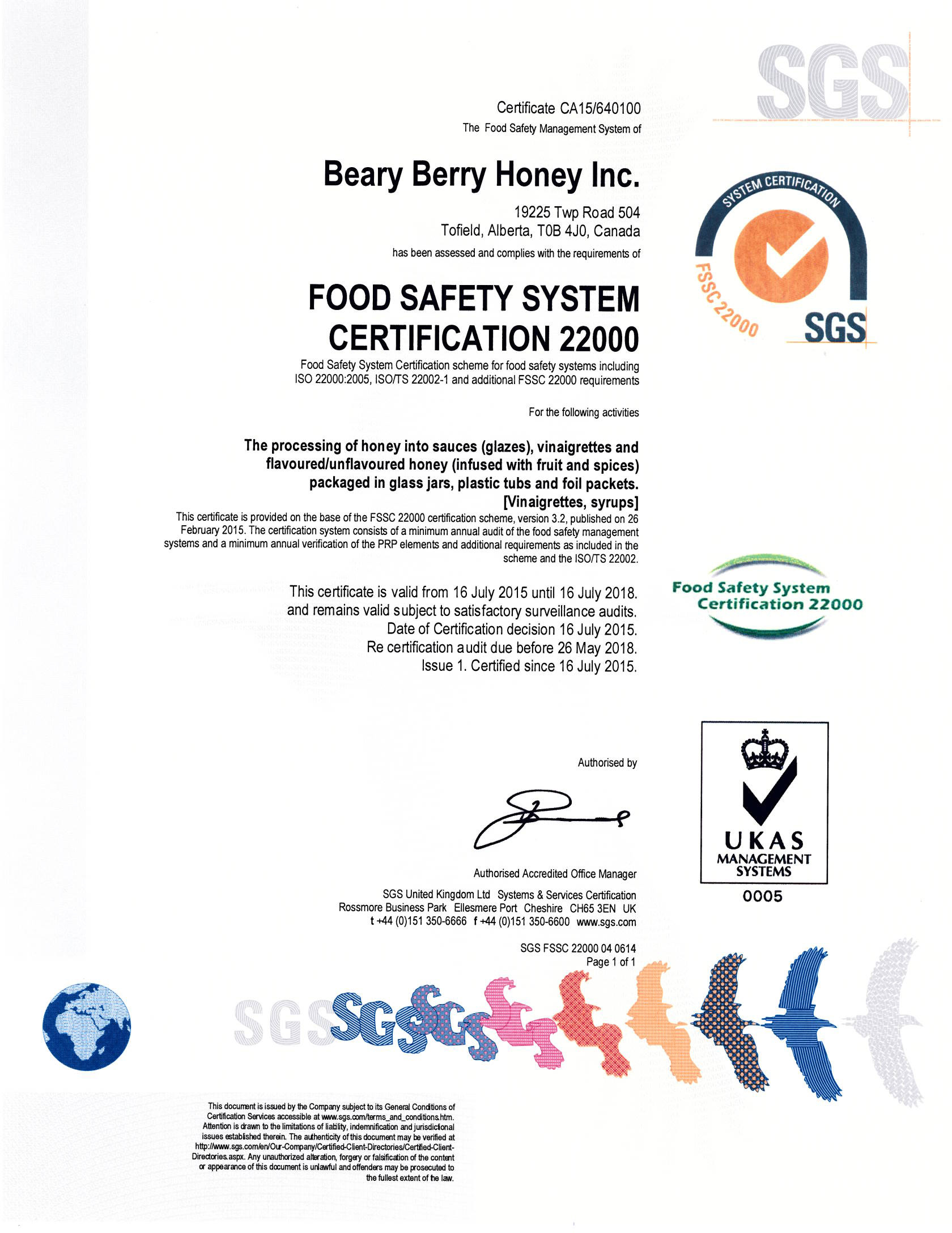 Food safety and certification beary berry honey xflitez Images