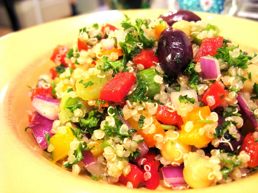 Mediterranean Quinoa Salad with Beary Berry Honey